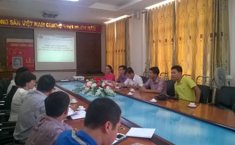 Trường Bách khoa Aptech thăm và hội đàm về triển vọng hợp tác với CĐCN Phúc Yên